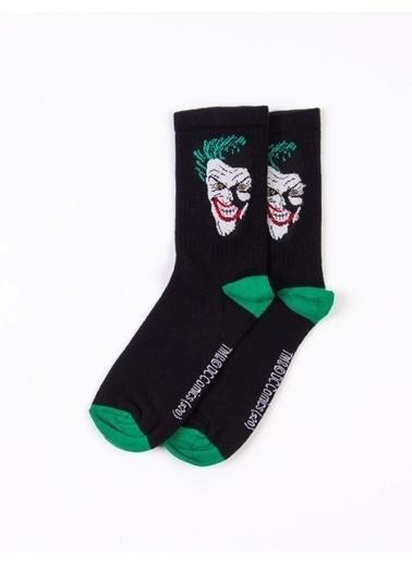 Joker Joker Lisanslı Yetişkin Tekli Çorap Siyah